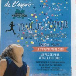 Trail de l'espoir - Villeneuve minervois